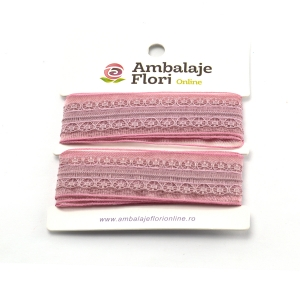 Panglica din organza cu dantela roze