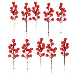 Set 10 crengute bobite rosii ilex