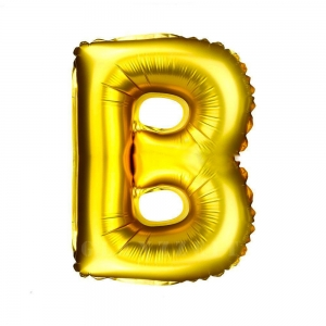 Balon gonflabil auriu 55 cm litera B