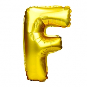 Balon gonflabil auriu 55 cm litera F