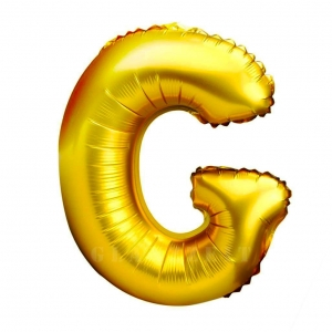 Balon gonflabil auriu 55 cm litera G