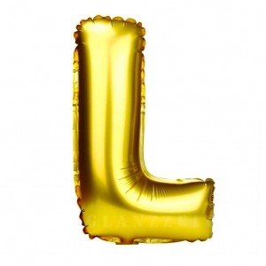Balon gonflabil auriu 55 cm litera L