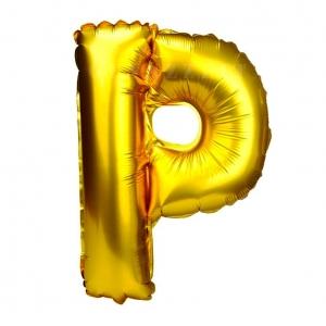 Balon gonflabil auriu 55 cm litera P