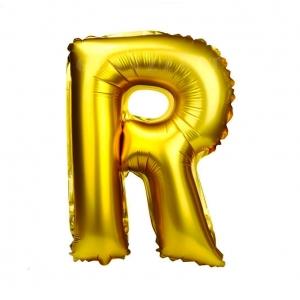 Balon gonflabil auriu 55 cm litera R