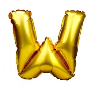 Balon gonflabil auriu 55 cm litera W
