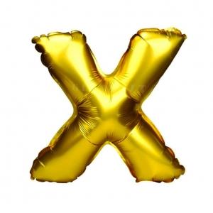 Balon gonflabil auriu 55 cm litera X