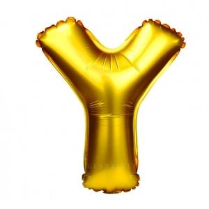 Balon gonflabil auriu 55 cm litera Y