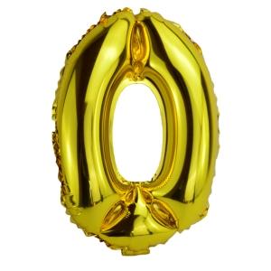 Balon Folie 80cm Cifra 0 - Auriu
