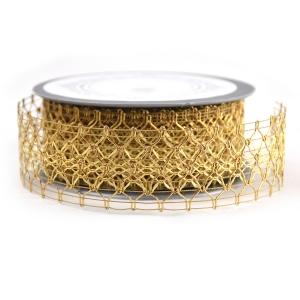 Rola Dantela Elegance Auriu 4cm - ambalaje si accesorii florale