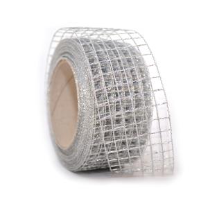 Rola Plasa 5CM Argintiu Glitter