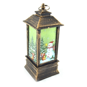Felinar led decor vintage cu decoratiuni Craciun model 3 - ambalaje si accesorii florale