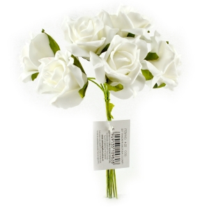 Set Trandafiri din Spuma alb
