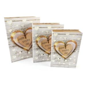 Set 3 cutii tip carte Happy every day - ambalaje si accesorii florale