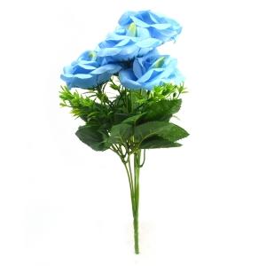 Buchet 5 trandafiri Rhodos albastru