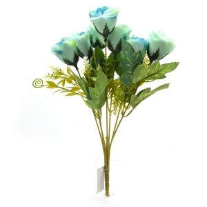 Buchet 7 trandafiri wild bleo cu albastru
