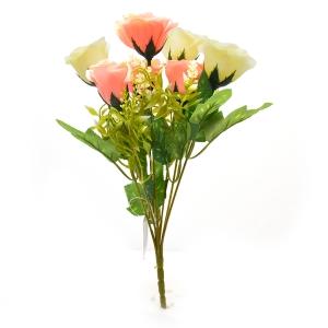 Buchet 7 trandafiri wild crem cu roz