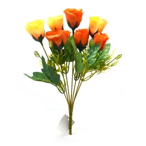 Buchet 7 trandafiri wild galben cu portocaliu