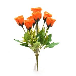 Buchet 7 trandafiri wild portocaliu