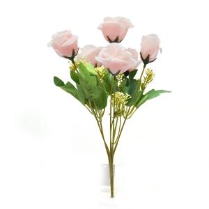 Buchet 7 trandafiri wild roze deschis