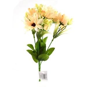 Buchet artificial 5 fire cu boboci Margareta piersica 3-68
