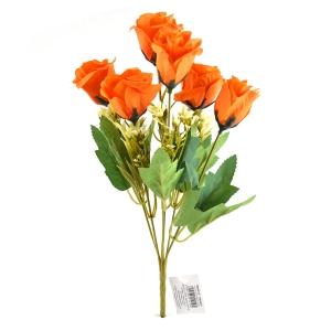 Buchet artificial 6 Trandafiri Madame portocaliu 3-67