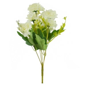 Buchet artificial Trandafir salbatic alb 3-74
