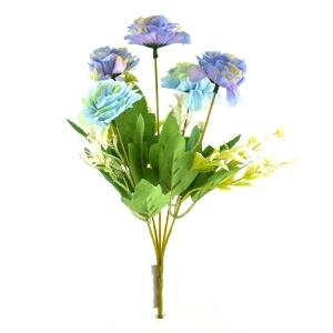 Buchet artificial Trandafir salbatic lila cu bleo 3-74