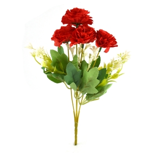 Buchet artificial Trandafir salbatic rosu 3-74