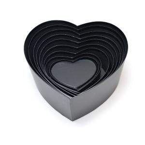 Set 10 cutii inima neinscriptionate negru