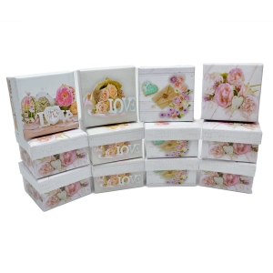 Set 12 mini cutii patrate modele mixte