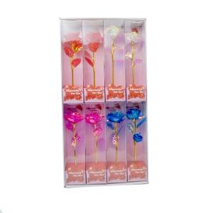 Set 8 trandafiri Rainbow culori mixte