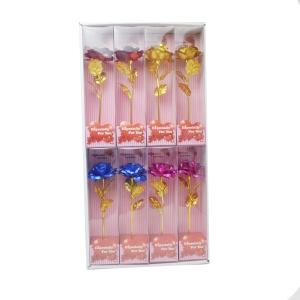 Set 8 trandafiri luminiu culori mixte